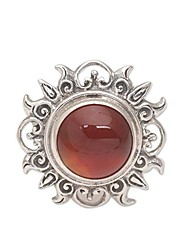 cheap -carnelian .925 sterling silver ring 'light of the universe'
