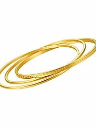cheap -18k gold plated bangle bracelets for women, stackable interlocked bracelet, ngraved & inspirational stainless steel bangles