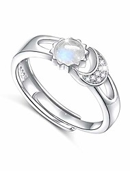 cheap -moonstone ring s925 sterling silver sun moon moonstone rings for women