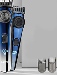 cheap -VGR LCD Digital Display Rechargeable Hair Clipper Adjustable Tooth Pitch Men's Engraving Electric Clipper Hair Salon Professional Hair Clipper