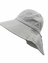 cheap -womens summer sun hat packable wide brim uv protection safari cap travel hat with strap grey