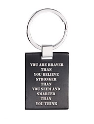 cheap -always remember you are braver than you believe inspirational keychain dog tag3