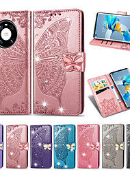 cheap -Phone Case For Huawei Full Body Case HUAWEI P40 HUAWEI P40 Pro HUAWEI P40 Pro+ Mate 40 Mate 40 Pro Mate 40 Pro+ Huawei P30 Huawei P30 Pro Huawei Honor Play 3e Honor 20 Card Holder Shockproof Embossed