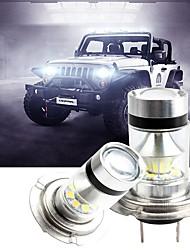 cheap -2 Pcs H1/H3/H4/H7/H8/H11/9005/9006 LED Automobiles Fog Light Lamp Assembly 100W Car Driving Bulb White 12V Super Bright Adopt High Power Chip