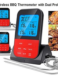 cheap -Wireless Waterproof BBQ Thermometer Digital Cooking Meat Food Oven Grilling Thermometer With Timer