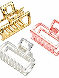 cheap -1 pack small metal hair claw clips hair catch barrette jaw clamp for women half bun hairpins for thick hair