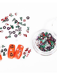 cheap -3pcs Nail Art Color Metal K Gold Pieces Christmas Gift Nail Patch Computer Sliced Bottle 100 Pieces
