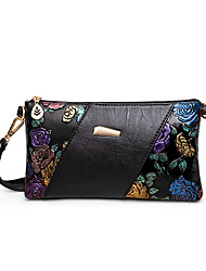 cheap -Women's Bags PU Leather Wristlet Wallet Pattern / Print Zipper Embellished&Embroidered Printing 2021 Daily Going out Black Blue Purple Red
