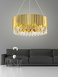 cheap -8-Light 60 cm Crystal / Extended Pendant Light Crystal Electroplated Chic & Modern 110-120V / 220-240V