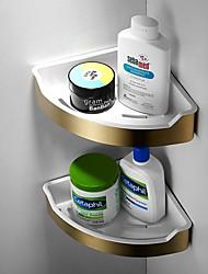 cheap -Bathroom Shelf Brushed Golden Triangle Basket Bathroom Thickened Shelf Bathroom Wall Hanging Corner Rack