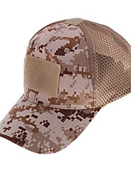 cheap -adjustable mesh baseball cap hat with hook & loop backing on top, front and back - one size fits most - desert digital camo