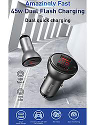 cheap -Baseus 45W Car Charger Lighter Support Pps Scp Pd3.0 Fast Charging For 12-24v Cars Charge Adapter Accessories