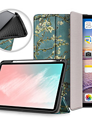 cheap -Case For Apple iPad 8 (2020) 10.2'' / iPad Air 3 (2019) 10.5'' / iPad 7 (2019) 10.2'' Shockproof Full Body Cases Cartoon / Eiffel Tower / Flower TPU