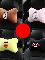 cheap -1 PC Universal Cute Car Neck Rest Cushion Headrest Pillow Auto Safety Seat Rest Support Pillows Cotton Car Neck Cushion