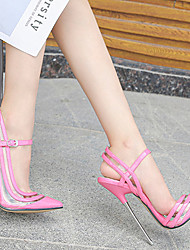 cheap -Women's Dance Shoes Pole Dancing Shoes Heel Thick Heel Black Red Pink Buckle Adults'