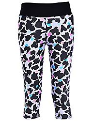 cheap -women's digital printed workout running capri pants crop leggings animal shadow us xxs/asian s