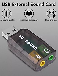 cheap -Virtual 5.1 Sound Card External Usb Audio Adapter Usb To Jack Sound Card 3.5mm Headphone For Pc Laptop Notebook