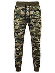 cheap -mumustar mens camouflage trousers jogging bottoms elasticated waist casual work sweatpants sports running tracksuit long pants sportwear