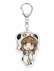 cheap -rascal does not dream of bunny girl senpai keychain double-sided clear acrylic key ring anime figure color printed pendant clothing bag accessories(azusagawa kaede)