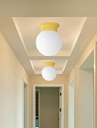 cheap -1-Light 15 cm Creative Flush Mount Lights Metal Glass Painted Finishes Modern 110-120V / 220-240V / E26 / E27
