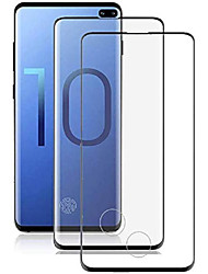 cheap -[2 pack] galaxy s10 plus screen protector,[3d full edge covered] [touch sensitive] [hd screen] [support fingerprint sensor] tempered glass screen protector for samsung galaxy s10 plus/ s10+