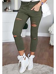 cheap -Women's Basic Chic & Modern Causal Daily Pants White Black Wine Blue Green