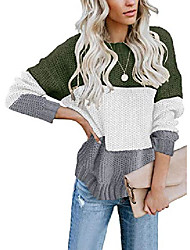 cheap -ladies knitted jumper tops winter fall soft warm fashion sweater pullover tops for women green large