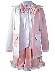 cheap -monomi cosplay outfit costume dress anime jacket ears halloween uniform pink