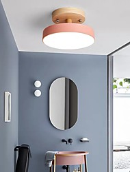 cheap -23 cm LED Mini Ceiling Light Modern Nordic Porch Light Corridor Aisle White Gray Green Pink Flush Mount Lights Metal Painted Finishes Modern 110-120V 220-240V