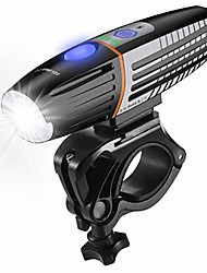 cheap -bike light rechargeable ipx6 waterproof intelligent light sensing bicycle front light set 400 lumens 2200mah