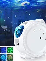 cheap -Star Lights Projector GEEDIAR 3 in 1 LED Night Light Ocean Wave Projector Light Decorative Moon Light with Sound Activated Stars Projector Light for Kids Baby Adults Bedroom Holidays
