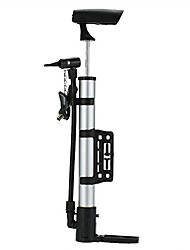 cheap -portable mini bike manual air pump 120 psi spherical tire air pump aluminum alloy high pressure bicycle mountain bike mountain bike pump, sports ball and inflatable toy pump bicycle pump (silver)