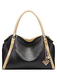 cheap -Women's Bags PU Leather Tote Zipper Chain Embellished&Embroidered Plain Daily Going out 2021 Handbags Black