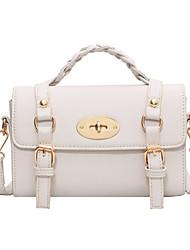 cheap -Women's Bags Top Handle Bag Date Office & Career Handbags MessengerBag White Black Brown Coffee