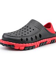 cheap -Men's Sandals Casual Outdoor Beach PVC Breathable Black red Blue orange Brown Summer