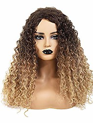 cheap -yant hair synthetic wigs for women curly wig ombre color wig about 18 inches #t4/27 color
