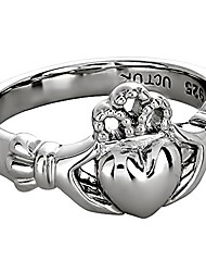 cheap -claddagh ring sterling silver ladies ls-uls-6163 - size: 5