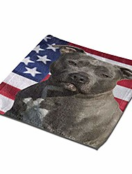cheap -american flag staffordshire terrier dog washcloth towel set face cloths bulk soft kids bath washcloths wash cloths for bathroom hotel spa body kitchen multi-purpose fingertip towels square