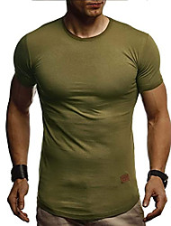 cheap -men's t-shirt round neck collar ln-8294 burgundy medium