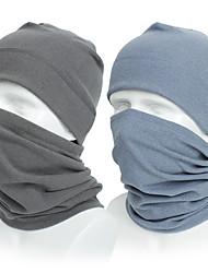 cheap -skull cap helmet liner neck gaiter set,cycling running beanie caps for men women light blue