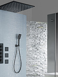 cheap -Shower Faucet / Rainfall Shower Head System / Body Jet Massage Set - Handshower Included Fixed Mount Rainfall Shower Contemporary Painted Finishes Ceiling Mounted Ceramic Valve Bath Shower Mixer Taps