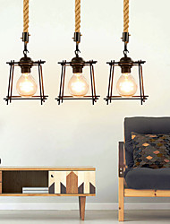 cheap -1-Light 25 cm Mini Style Pendant Light Hemp Rope Painted Finishes Traditional / Classic / Nordic Style 220-240V