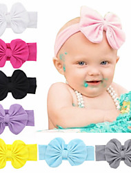 cheap -1pcs Toddler / Infant Girls' Active / Sweet Black / Blue Solid Colored Bow Spandex / Cotton Hair Accessories White / Black / Blue One-Size