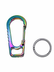 """cheap -titanium anti-lost octagonal ring key chain tc4 quick release waist belt clip easy carry edc tool keychain (2""""+ key ring (26mm), multicolor)"""