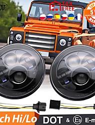 cheap -7 Inch LED Headlight H4-H13 Hi-Low Beam DRL LED Headlamps For Lada 4x4 Urban Niva Offroad Motorcycle 12V 24V 2Pcs