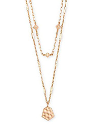 cheap -clove multi strand adjustable length necklace for women, fashion jewelry, 14k rose gold-plated