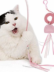 cheap -1pc cat toy cute jellyfish shape elastic spring string felt cat toy filled with catnip, sound bell, eight-ribbons safe interactive cat kitten toy, pink/blue