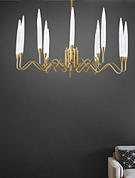 cheap -12 Bulbs 86 cm Candle Style Chandelier Metal Electroplated Modern 110-120V / 220-240V
