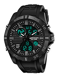 cheap -SANDA Men's Digital Watch Analog - Digital Digital Sporty Classic Water Resistant / Waterproof Calendar / date / day Alarm Clock / One Year / Rubber / Japanese