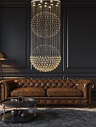 cheap -1-Light 180 cm Crystal LED Chandelier Metal Electroplated Tiffany Rustic Lodge Vintage 110-120V 220-240V